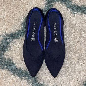 Rothy's The Point Maritime Navy Blue Size 9.5 EUC